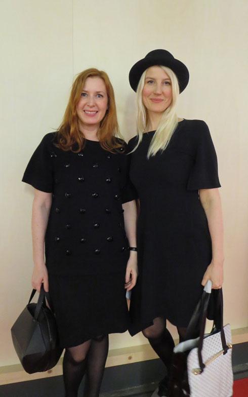 【画像5】FRONTのAnna Lindgren(左)とSofia Lagerkvist@Fiera。最近は2人で活動している (写真撮影/藤井繁子)