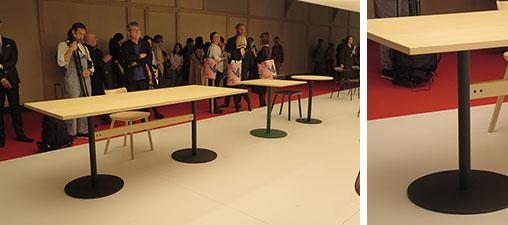 【画像19】「T&O」シリーズに加わった新作のダイニングテーブル。マルニの製品は耐久性に信頼が高く、レストランなど商業用でも人気がある(写真撮影/藤井繁子)