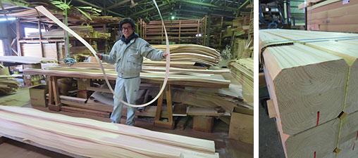 【画像18】「吉野杉の家」の天井埋め込み照明にも使われた0.3mmの突き板は、無垢材を薄くスライスしてこのようにできる。集成材に表面加工して使う@丸商店(写真撮影/藤井繁子)