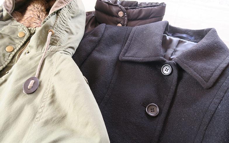【画像2】まずは、コート類をピックアップ! ベルトやライナーはつけたままで送れば、点数には入りません(写真撮影/内田優子)
