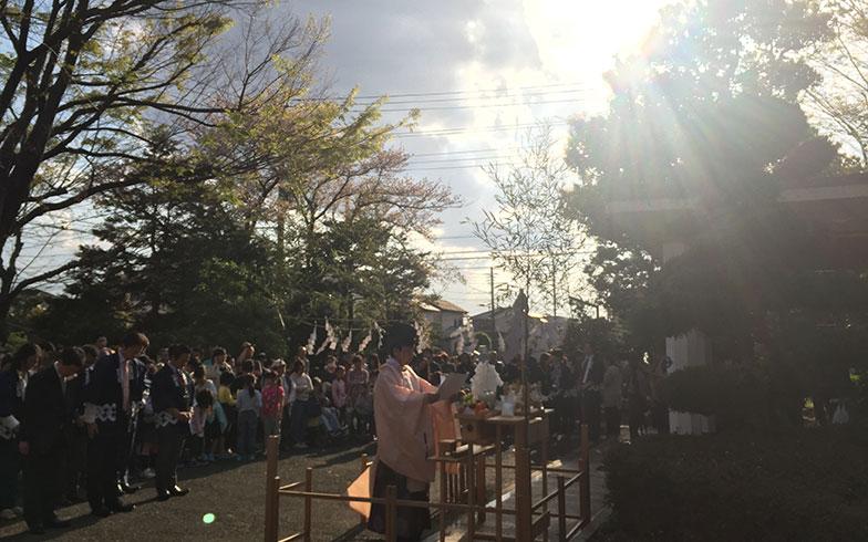 【画像9】清祓いの儀式では、太陽が顔を出した(写真撮影/富谷瑠美)