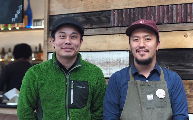 【画像2】BETTARA STAND 日本橋 店長・熊谷さん(左)、コミュニティビルダー・柴田さん(右)。メンバーは10名ほどおり、年間で150本ほどの催しを企画・開催したり、日本橋で活躍する企業・個人に取材インタビューを行ったりと街に積極的に入っていくそうだ(画像提供/YADOKARI)
