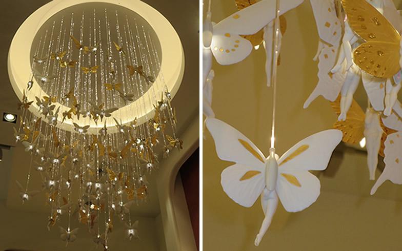 【画像9】コードにLEDを照らし、天使が揺れて光るメルヘンなデザイン(写真撮影/藤井繁子)