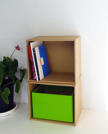 【画像6】収納棚と収納BOXの完成イメージ(写真提供/ダンボール倶楽部)