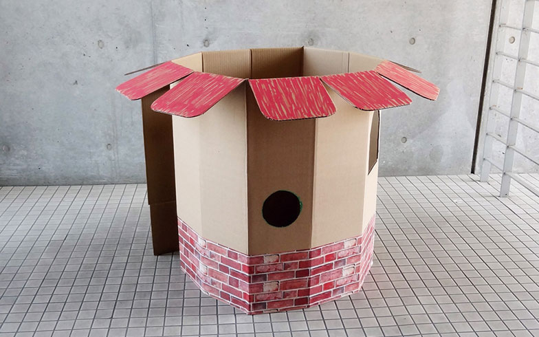 【画像12】ダンボールハウスの完成イメージ(写真提供/ダンボール倶楽部)