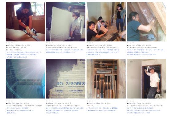 【画像7】Instagramにアップした工事風景(画像提供/HandiHouse project)