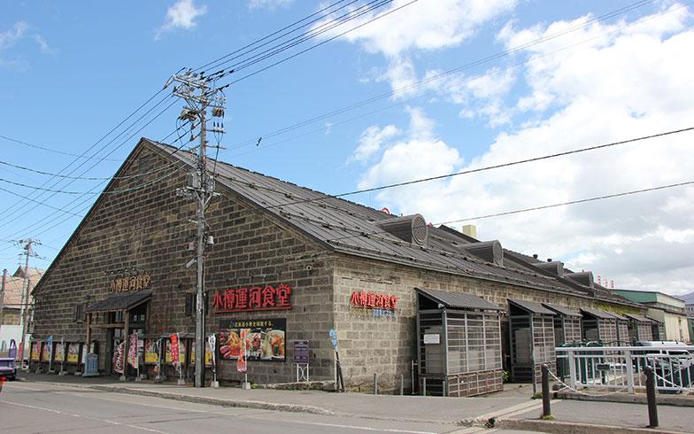 【画像2】小樽運河沿いに並ぶ石造倉庫のひとつ旧浪華(なにわ)倉庫。木造の建物の外観に小樽軟石(おたるなんせき)を張り付ける工法は、当時の小樽ではよく用いられていた(写真撮影/田方みき)