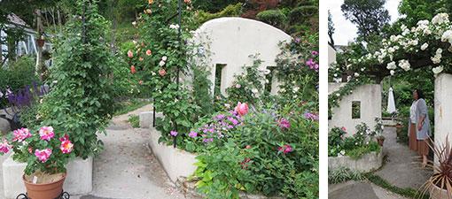 【画像8】外から家の中が丸見えにならないようつくった花壇と壁、庭に奥行きが出て見応えがある空間になっている(写真撮影/藤井繁子)