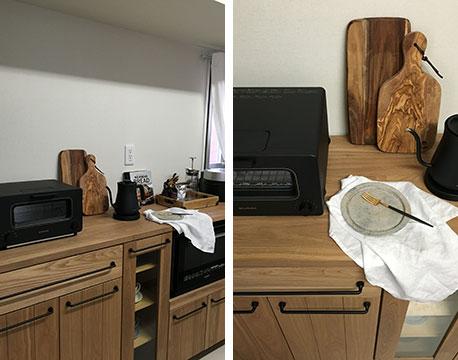【画像7】キッチンに置くアイテムも厳選。だんだんとお気に入りの空間に近づいているという(写真提供/uniuniさん)
