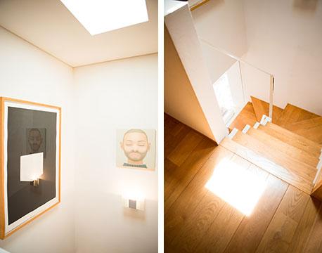 【画像11】2階天窓からの光が、階段を照らし1階のリビングへ(写真撮影/片山貴博)