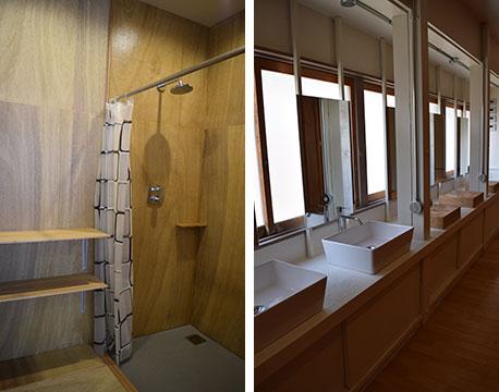 【画像12】清潔感があるシャワーや洗面台の存在は嬉しい(撮影/末吉陽子)