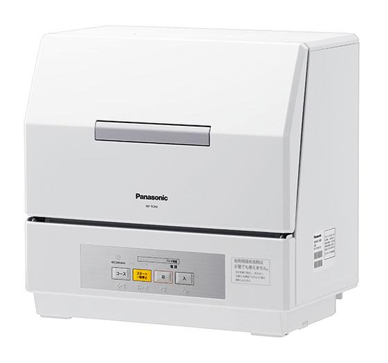 【画像4】プチ食洗 NP-TCR4。水切りカゴのスペースに設置できる卓上型食洗器(画像提供/パナソニック)