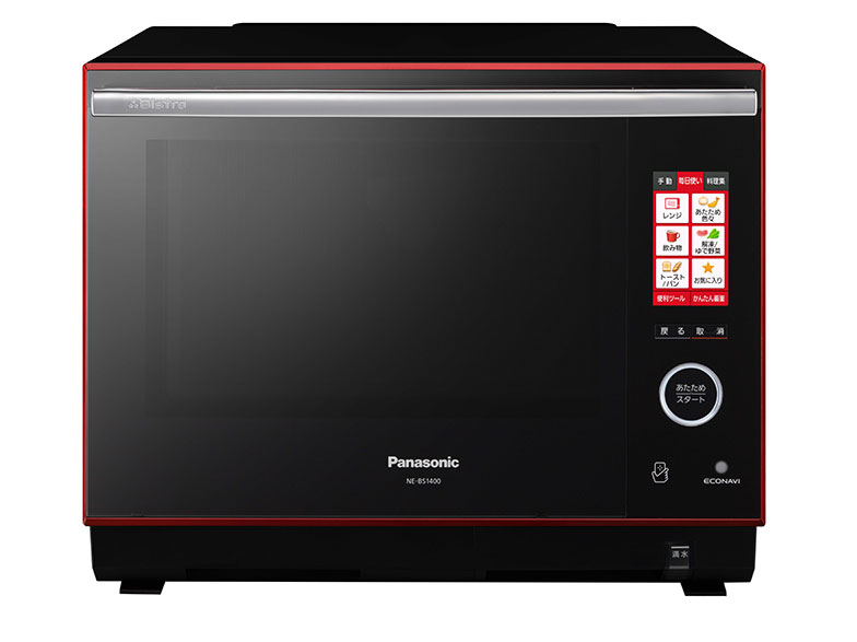 【画像6】ビストロ NE-BS1400。グリル、レンジ、スチーム、オーブンの機能で幅広い料理に対応。「10分でできる簡単ごちそうレシピ」など時短レシピも充実している(画像提供/パナソニック)