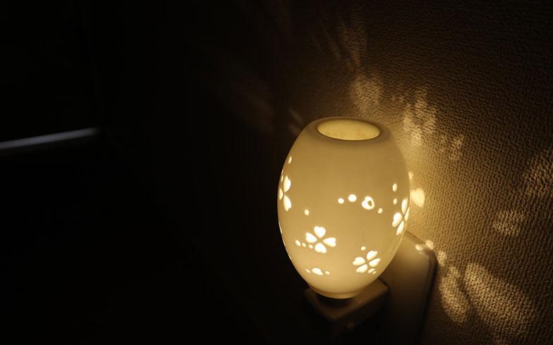 【画像4】ランプシェードの透かし彫りが壁に陰影をつくりだすタイプも(画像提供/小田ゆきさん)