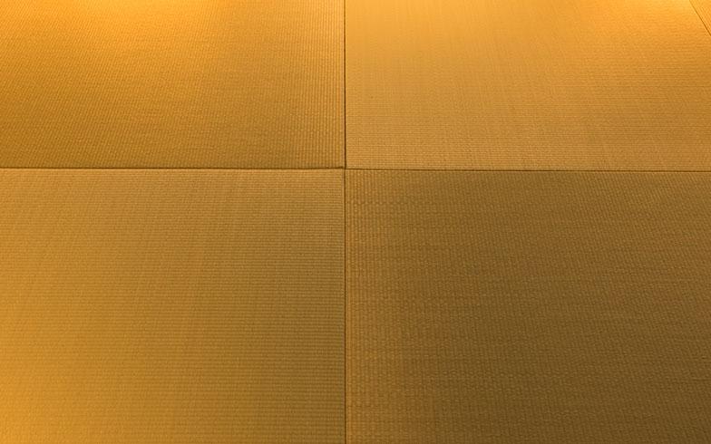 【画像5】畳の目が細かく縁もないため、すっきりとモダンな風合いになる。目の向きを変えることで光の反射によって表情が生まれる(撮影/片山貴博)