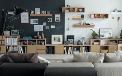 【画像4】持ち家はもちろん、賃貸でも設置できる「壁に付けられる家具」。使い勝手もよく、さまざまなかたちで愛用している人も多い(画像提供:無印良品ネットストア)