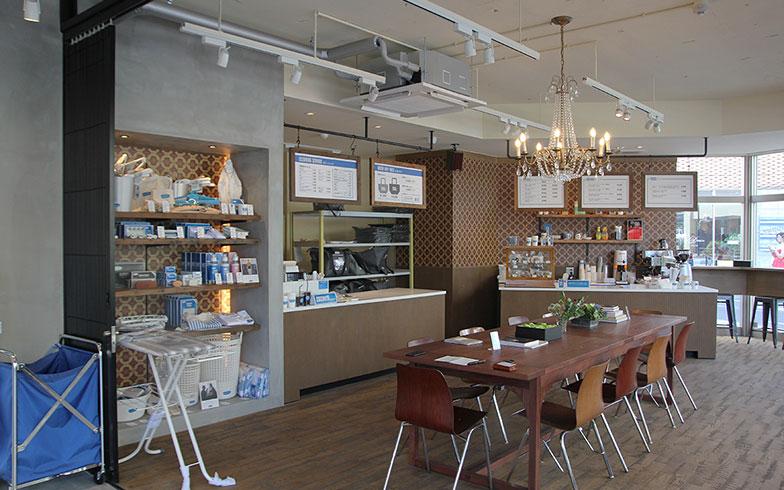 【画像4】なかにはカフェ利用のついでに洗濯していく人もいるとか(写真撮影/小野洋平)