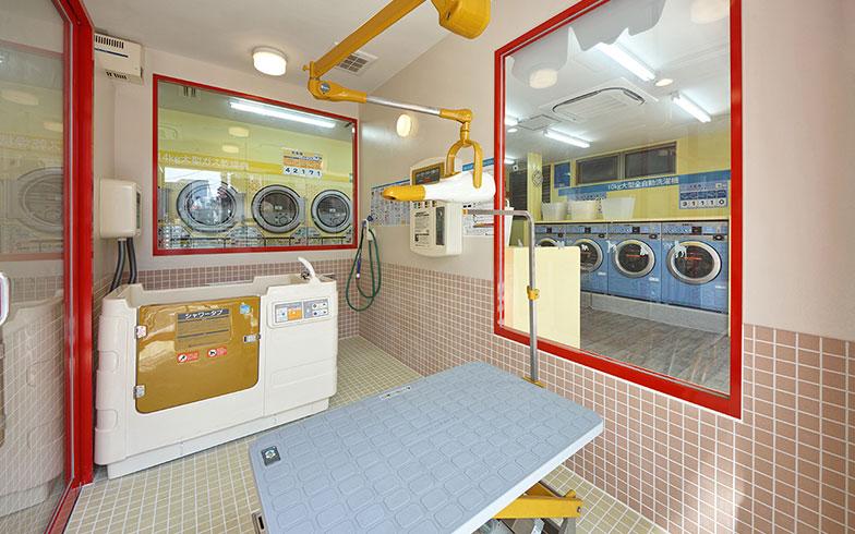 【画像11】清潔&広々としたペット専用のシャンプーコーナー(写真提供/クリーンプラザルーシー)