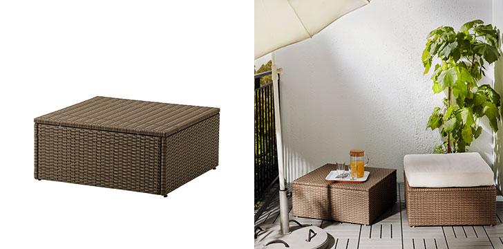 【画像7】固定具付でアールホルマシリーズの屋外家具同士をつなげることができる。ARHOLMA:アールホルマ(画像提供/イケア)