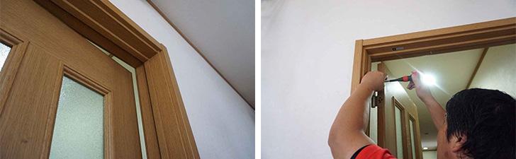 【画像7】家族が長年気になっていたドアの建て付けも、数分で解消(写真撮影/SUUMOジャーナル編集部)