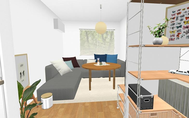 【画像5】ソファもキッチン収納もL型にすることでさまざまなメリットが(画像提供/良品計画)