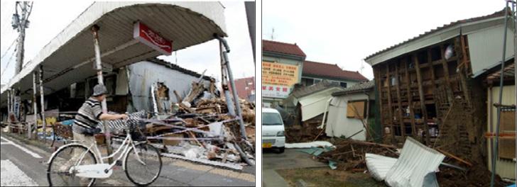 【図3】震災発生当時の被害の様子 (写真提供/えんま通り復興協議会)