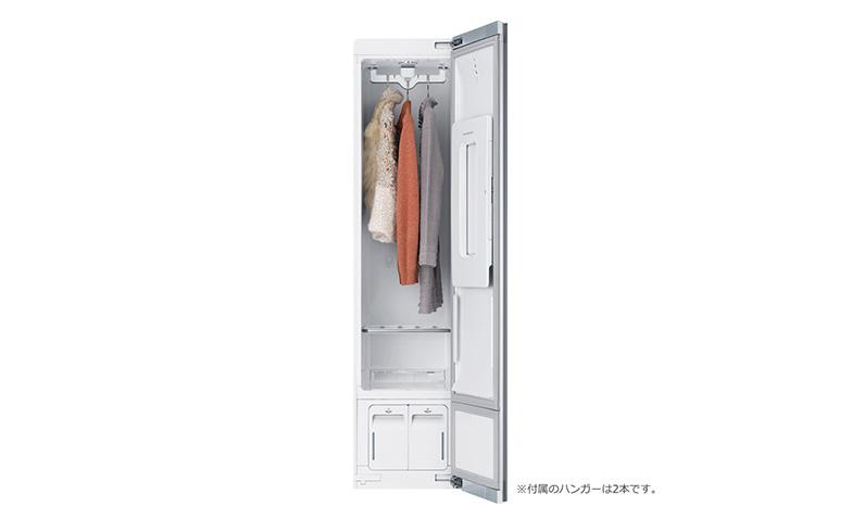 【画像3】扉を開いた状態の『LG styler』韓国ではすでに一般の家庭にも普及(画像提供/二子玉川 蔦屋家電)