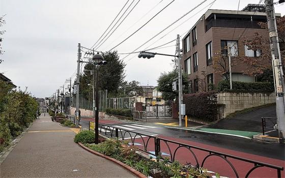 【画像3】世田谷代田駅周辺。低層の住宅が多く、歩道は広い。ゆったりとした街並みが形成されている(撮影/小野洋平)