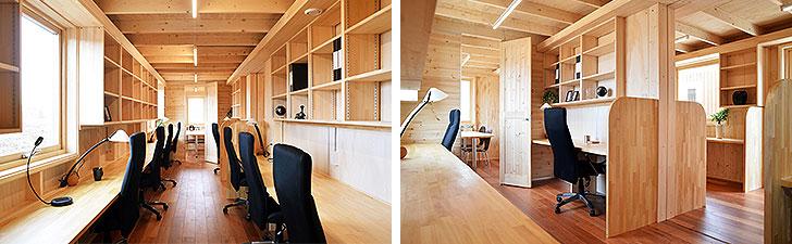 【画像4】室内のレイアウトは自由自在。写真のようにオフィスとしての使用も可能(写真提供/アーキビジョン21)