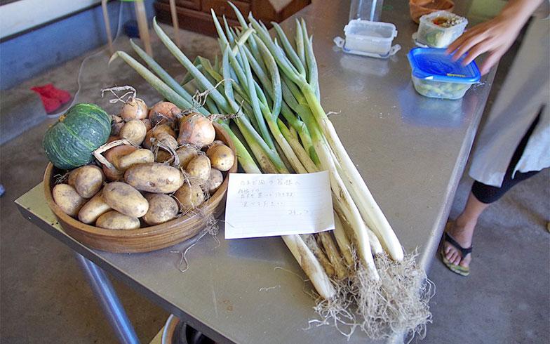 【画像4】キッチンには近所の方から差し入れされた野菜がたくさんありました(写真撮影/玉置豊)