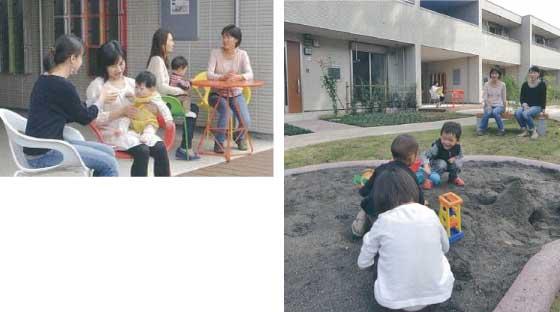 【画像2】「子育てママの助け合い」を促す賃貸の共同住宅の事例(写真提供/旭化成ホームズ株式会社)