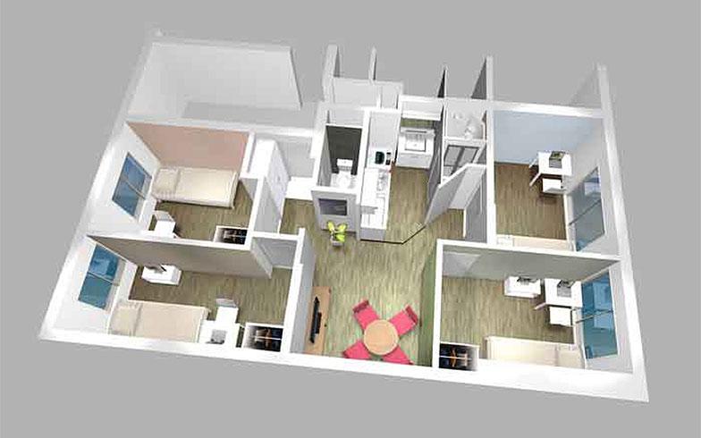 【画像1】東小金井シェアハウスの完成予定図(画像提供/JR東日本 生活サービス事業PR事務局)