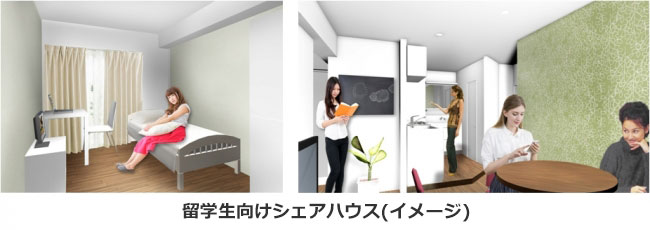 【画像2】東小金井シェアハウスの室内イメージ(画像提供/JR東日本 生活サービス事業PR事務局)