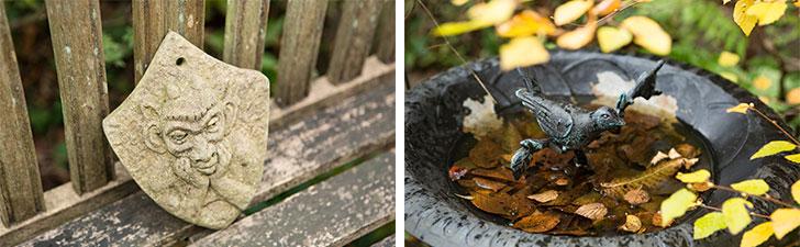 【画像12】英国っぽい小物やバードバス、ガーデン愛好家なら「いいね!」したくなるさり気なさ(写真撮影/片山貴博)