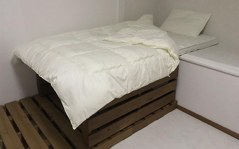 【画像9】完成したパレットベッド(画像提供/カタオカマナミさん)