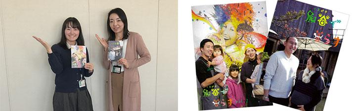 【画像3】写真左:企画課では住民目線で熊谷の暮らしを紹介する情報誌「熊谷で暮らす」を発行するなど、積極的に情報発信を行っている。写真右:定住促進パンフレット「熊谷で暮らす」vol.1、vol.2 (写真撮影/宮崎林太郎)