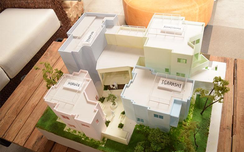 【画像10】コーポラティブハウスの模型(撮影/末吉陽子)