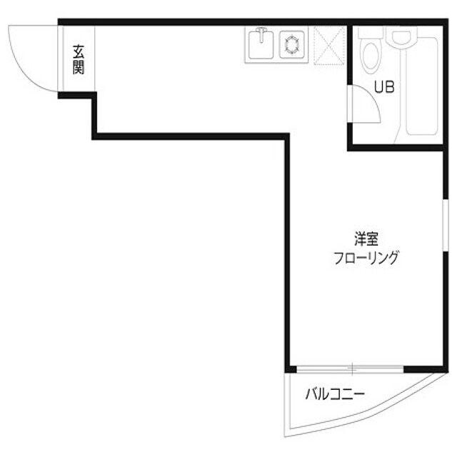 【画像2】14m2のときのkomugiさん宅の間取図(画像提供/komugiさん)