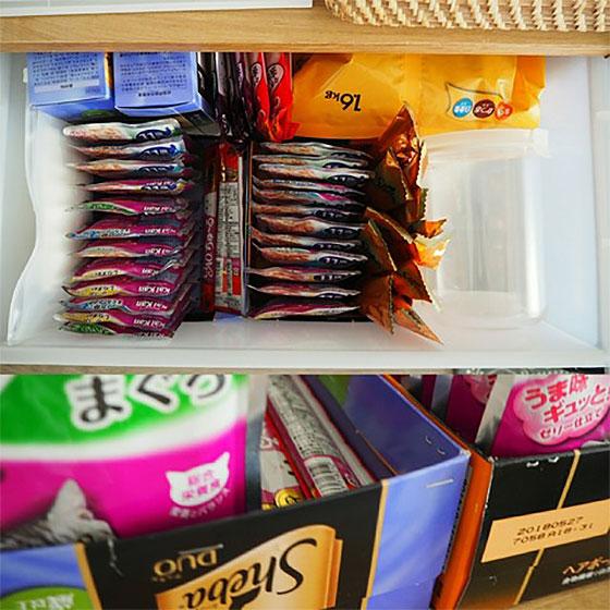 【画像5】箱を活用した収納なら、躊躇なく捨てられるというメリットも(画像提供/komugiさん)