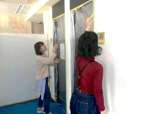 DITインストラクター認定講座(モニタークラス)受講生の現場実習。床ハリクラスと壁ヌリクラスを2018年3月に試験開講。プログラムを改良し、5月ごろから本格実施予定 (画像提供/ KUMIKI PROJECT)