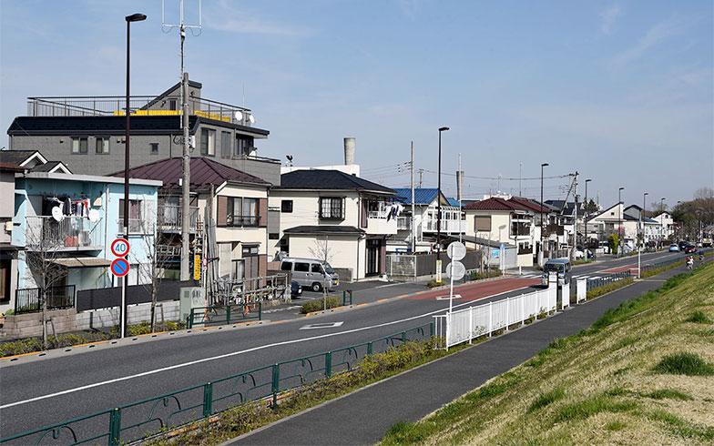 多摩川沿いの住宅街(写真撮影/小野洋平)