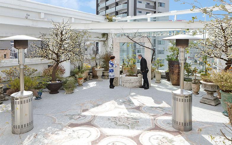 庭の中央には井戸。植栽や鉢の選定は渡辺夫人がご担当。フルーツ系・ハーブ系のゾーンに分かれている(写真撮影/糠澤武敏)