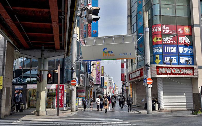 川越駅前の商店街「クレアモール」。全長1200mにもおよぶ(写真撮影/小野洋平)