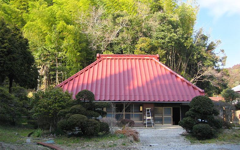 森を背に広大な敷地に建つトモ長谷川邸。こつこつDIYで住まいを改装しながら暮らしている(写真提供/トモ長谷川さん)
