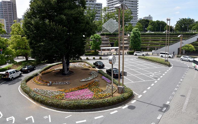 川口駅西口ロータリー。花壇の手入れも行き届いている(写真撮影/小野洋平)