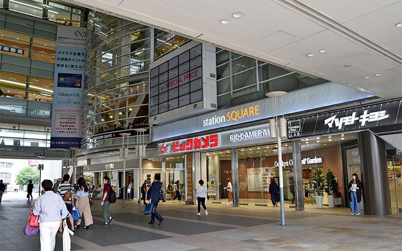 一方、こちらは「相模大野」。駅ビル「ステーションスクエア」にはスーパーや飲食店、ドラッグストア、家電量販店などが入っている。さらに、北口には「伊勢丹」、「モアーズ」、そして約180店舗が入る商業施設「ボーノ」も。買い物環境は町田と遜色ない印象。家賃相場は5.1万円と1万円安い(写真撮影/小野洋平)
