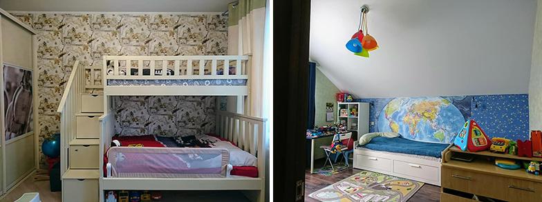 カザン市郊外にある一戸建ての子ども部屋。モデルルームではありません(写真撮影/SUUMOジャーナル編集部)
