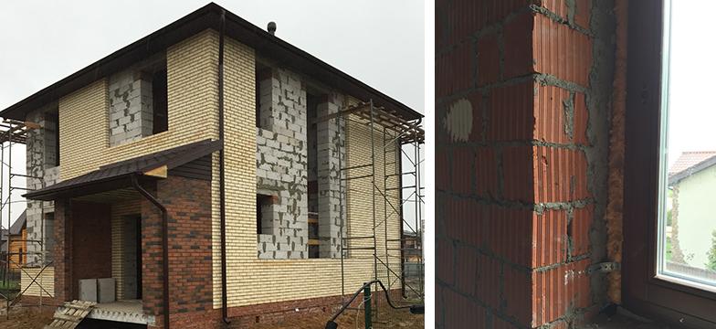 ロシアの一戸建てはレンガブロックを積んだものが多い(写真撮影/IIDA SANGYO RUS)
