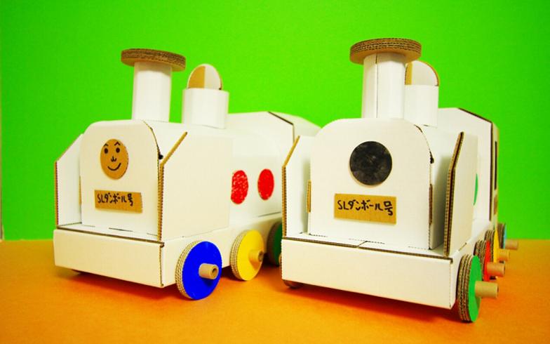 小寺さんがつくった段ボール機関車(ちゃんと走る!)(画像提供/段ペディア)