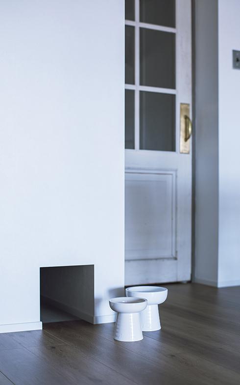 LDKにはキャットトンネルがあり、キャットトイレがある洗面脱衣室につながっている(写真撮影/masa(PHOEBE))